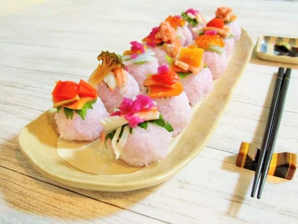 手まり寿司完成