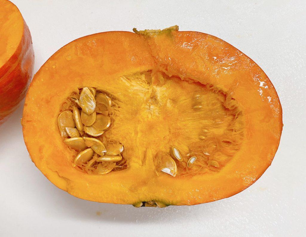 赤皮栗かぼちゃの断面図